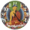 "Oriental Furniture 13"" The Enlightened Buddha Wall Clock"