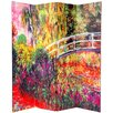 "Oriental Furniture 70.88"" x 63"" Double Sided Works of Monet 4 Panel Room Divider"