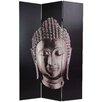 "Oriental Furniture 70.88"" x 47.25"" Buddha 3 Panel Room Divider"