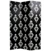 "Oriental Furniture 70.88"" x 47.25"" Damask 3 Panel Room Divider"
