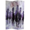 "Oriental Furniture 70.88"" x 47.25"" Horses 3 Panel Room Divider"