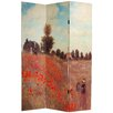 "Oriental Furniture 70.88"" x 47.25"" Works of Monet 3 Panel Room Divider"