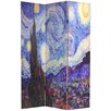 "Oriental Furniture 70.88"" x 47.25"" Works of Van Gogh 3 Panel Room Divider"