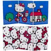 """Oriental Furniture 23.75"""" x 47.25"""" Tall Double Sided Hello Kitty Bicycle 3 Panel Room Divider"""