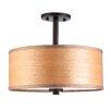 Woodbridge Lighting 3 Light Semi Flush Mount