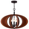 Woodbridge Lighting Fins 3 Light Foyer Pendant
