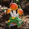 Acorn Alley Mushroom 12.5 inch x 6.5 inch x 5 inch Toad House - Evergreen Enterprises, Inc Birdhouses