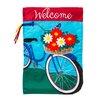Evergreen Enterprises, Inc Applique Summertime Bicycle 2-Sided Garden Flag