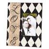 Evergreen Enterprises, Inc Wooden Burlap Love Picture Frame