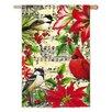 Evergreen Enterprises, Inc Winter Birds on Music Regular Suede Vertical Flag