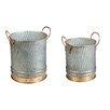 2-Piece Metal Pot Planter Set - Evergreen Enterprises, Inc Planters