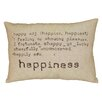 LR Resources Happiness Accent Cotton Throw Pillow