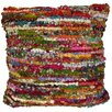 LR Resources Accent Chindi Cotton Throw Pillow
