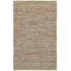 LR Resources Natural Fiber Blue Area Rug