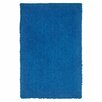 LR Resources Senses Shag Blue Rug