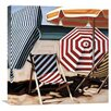 Global Gallery July Beach by Kristen Funkhouser Painting Print on Wrapped Canvas