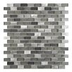 EliteTile Commix 0.5'' x 1.88'' Aluminum and Glass Mosaic Tile in Sonoma