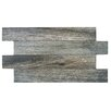 "EliteTile Moscow 3.06"" x 20.5"" Porcelain Mosaic Tile in Gray"
