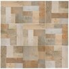 EliteTile Cabin Random Sized Porcelain Mosaic Tile in Beige