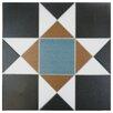 "EliteTile Narcisso Nouveau 13"" x 13"" Ceramic Field Tile in Multi"