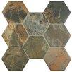 """EliteTile Terrene 15.25"""" x 16"""" Ceramic Mosaic Tile in Grey"""
