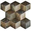 """EliteTile Qubic 15.25"""" x 16"""" Ceramic Field Tile in Ceniza"""