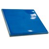 "EliteTile Contour Square 3.75"" x 3.75"" Ceramic Field Tile in Blue"