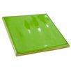 "EliteTile Contour Square 3.75"" x 3.75"" Ceramic Field Tile in Green"