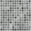 "EliteTile Colgadilla Square 0.88"" x 0.88"" Glass Mosaic Tile in Gris"