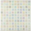 "EliteTile Colgadilla Square 0.88"" x 0.88"" Glass Mosaic Tile in Mother of Pearl"