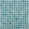 "EliteTile Colgadilla Square 0.88"" x 0.88"" Glass Mosaic Tile in Niebla Azul"