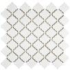 """EliteTile Pharsalia 2"""" x 2.5"""" Porcelain Mosaic Tile in Glossy White"""