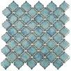 "EliteTile Pharsalia 2"" x 2.5"" Porcelain Mosaic Tile in Glossy Marine"