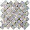 """EliteTile Pharsalia 2"""" x 2.5"""" Porcelain Mosaic Tile in Glossy Gray"""