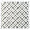 """EliteTile Gem 0.75"""" x 0.75"""" Porcelain Mosaic Tile in Glossy White"""