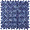 "EliteTile Gem 0.71"" x 0.71"" Porcelain Mosaic Tile in Glossy Sapphire"