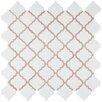 """EliteTile Pharsalia 2"""" x 2.5"""" Porcelain Mosaic Tile in Matte White"""