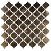 """EliteTile Pharsalia 2"""" x 2.5"""" Porcelain Mosaic Tile in Glossy Gold"""