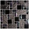 EliteTile Eden Random Sized Glass & Stone Mosaic Tile in Iris