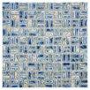 "EliteTile Arcadia .5"" x 1"" Weave Porcelain Mosaic Tile in Neptune Blue"