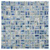 EliteTile Arcadia Random Sized Porcelain Mosaic Tile in Neptune Blue