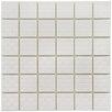 EliteTile Passero Porcelain Mosaic Tile in White