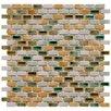 "EliteTile Arcadia 0.5"" x 1"" Porcelain Mosaic Tile in Springfield"