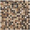 """EliteTile Arcadia 0.563"""" x 0.563"""" Porcelain Mosaic Tile in Highlands"""