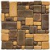EliteTile Heritage Random Sized Ceramic Mosaic Tile in Goldstone