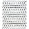 "EliteTile Retro 0.75"" x 0.75"" Porcelain Mosaic Tile in Matte White"