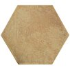 "EliteTile Hexitile 7"" x 8"" Porcelain Field Tile in Matte Rodeno"