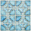 "EliteTile Moonlight 11.75"" x 11.75"" Porcelain Mosaic Tile in Diva Blue"