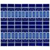 EliteTile Emilia Random Sized Porcelain Mosaic Tile in Cobalt Blue