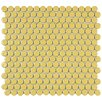 "EliteTile Penny 0.75"" x 0.75"" Porcelain Mosaic Tile in Vintage Yellow"